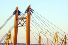 Les câbles d'un pont Images stock