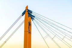 Les câbles du pont Photographie stock libre de droits