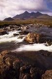 Les côtes et le fleuve de Cullin Images libres de droits