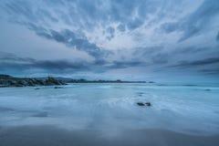 Les côtes et les plages de la Galicie et des Asturies Images stock