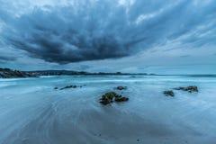 Les côtes et les plages de la Galicie et des Asturies Photos stock