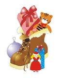 Les cadeaux d'an neuf Images stock