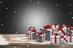 Les cadeaux 3d rendent la conception de cadeaux Images stock