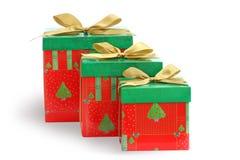 Les cadeaux de Noël/ont isolé/avec le clippi fabriqué à la main Images stock
