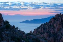 Les calanches DE Piana, Corsica, Frankrijk Royalty-vrije Stock Afbeeldingen