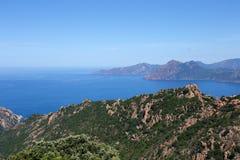 Les calanches DE Piana, Corsica, Frankrijk Royalty-vrije Stock Afbeelding