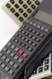 Les calculatrices Photos stock