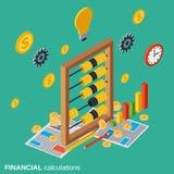 Les calculs financiers, planification de budget, coûte le concept de vecteur de définition illustration stock