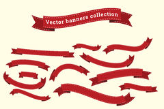 Les calibres de collection de vecteur de bannières de ruban pour la conception fonctionnent Images stock