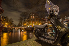 Les canaux d'Amsterdam Photographie stock