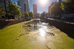 Les canaux de Rotterdam Images libres de droits