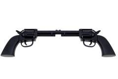 Les canons de main de jouet se sont connectés au baril Image libre de droits