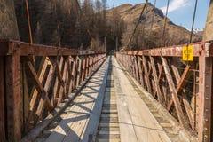 Les capitaines jettent un pont sur en canyon de capitaines Image libre de droits