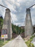 Les capitaines jettent un pont sur en canyon de capitaines, Nouvelle-Zélande Image libre de droits