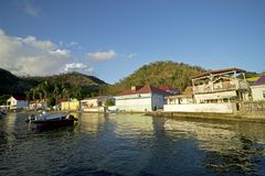 Les Caraïbe, Antilles françaises, archipel de la Guadeloupe, île images stock