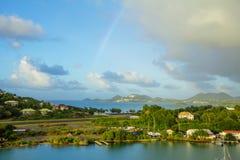 les Caraïbe L'île du St Lucia Piste d'atterrissage de l'aéroport Images stock