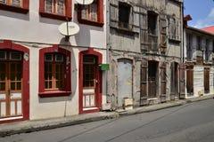 Les Caraïbe, la ville pittoresque du Saint Pierre dans les Antilles Photographie stock