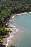Les Caraïbe ont abandonné la vue de plage Image stock