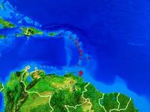 Les Caraïbe sur terre avec des frontières photo libre de droits