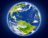 Les Caraïbe sur terre de planète illustration libre de droits