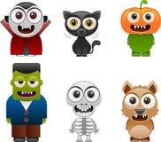 Les caractères de Halloween ont placé 2 Photos libres de droits