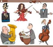 Les caractères de musiciens ont placé la bande dessinée illustration libre de droits
