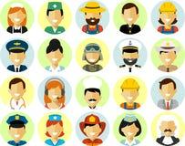 Les caractères de profession de personnes ont placé dans le style plat d'isolement sur le fond blanc Image stock