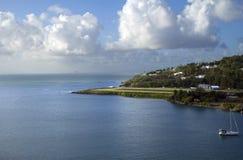Les Caribs L'île de la Sainte-Lucie La piste de l'aéroport Photographie stock