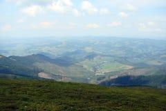 Les Carpathiens ukrainiens La gamme de montagne de Borzhava photos libres de droits