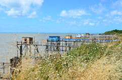Les carrelets in Port des Barques, Charente Maritime, France Stock Photos