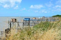 Les carrelets in Port des Barques, Charente Maritime, France Stock Photos