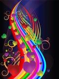 Les cartes colorées de vacances Images libres de droits
