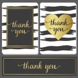 Les cartes de luxe de conception de style avec le traçage noir et l'or signent Images stock