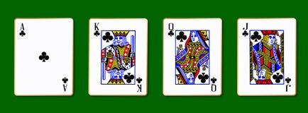 Les cartes royales de clubs Image libre de droits