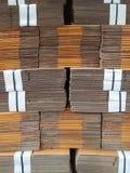 Les cartons pour des produits Photos stock