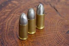 Les cartouches de calibre de 9mm Photographie stock