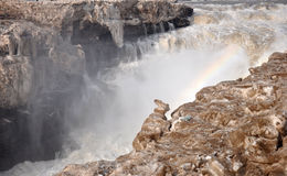 Les cascades d'hiver Photos stock
