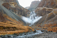 Les cascades de montagne de changbai Photos stock