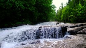 Les Cascades in La Mauricie national park stock footage