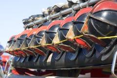 Les casques du sapeur-pompier Image stock