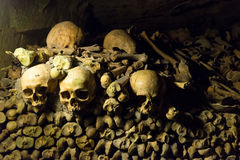 Les catacombes de Paris Photos libres de droits