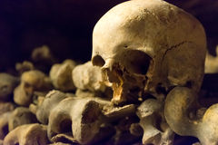 Les catacombes de Paris Images libres de droits