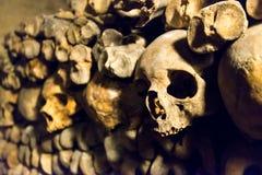 Les catacombes de Paris Image libre de droits