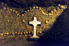 Les catacombes de Paris Photo libre de droits