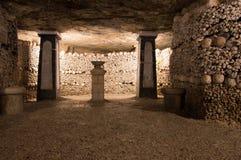 Les catacombes de Paris Photographie stock libre de droits