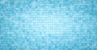 Les caustiques du fond de piscine ondulent et coulent avec le fond de vagues Fond d'été comme le fond soit peut apprêter l'eau ut Photos stock