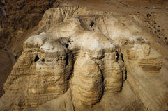 Les cavernes de Qumran Photographie stock libre de droits