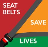Les ceintures de sécurité sauvent les vies Illustration de vecteur Images stock