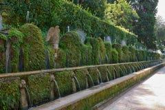 Les cent ` Este de la villa D de fontaines photos stock