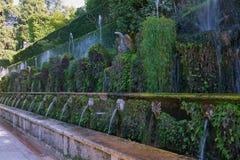 Les cent ` Este de la villa D de fontaines photographie stock libre de droits